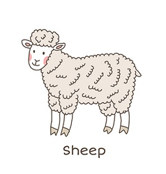 Lineart sheep vector