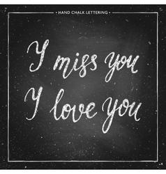 Love chalk lettering vector