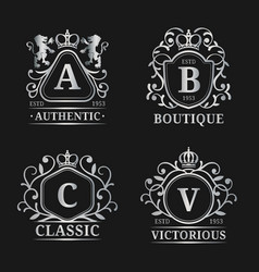 monogram logo templates luxury letters vector image vector image
