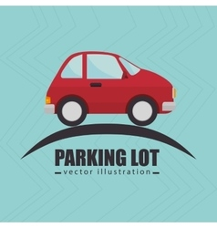 parking lot symbol notice vector image