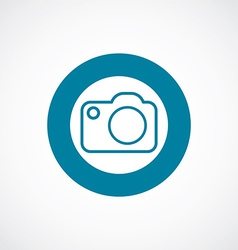 Photo camera icon bold blue circle border vector