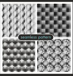 Seamless patterns with halftone dots 3 vector
