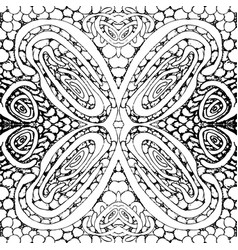 seamless tile with a black and white pattern vector image