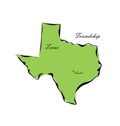 State of Texas vector image vector image