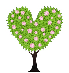 tree heart vector image vector image