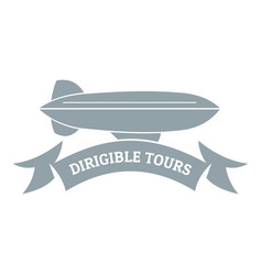 Trip dirigible logo simple gray style vector