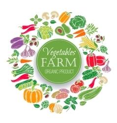 Vegetables design menu vector image vector image