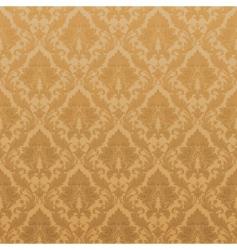 vintage damask wallpaper vector image vector image