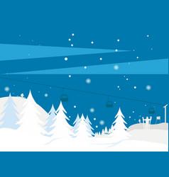 winter landscape 3 vector image vector image