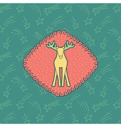02NY Deer 04 vector image