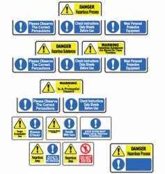 Hazardous material signs vector