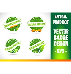 Natural product badge vector
