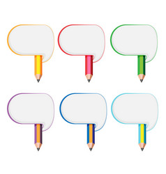 abstract color pencil symbol set vector image