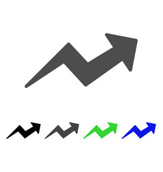 Trend up arrow flat icon vector