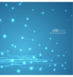 Virtual abstract background with particle vector