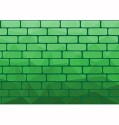 Polygon brick green vector