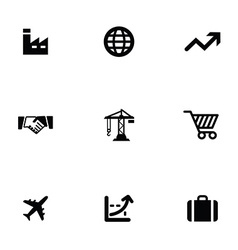 Economy 9 icons set vector