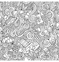 Cartoon art and craft seamless pattern vector