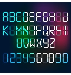 Digital letters and numerals vector