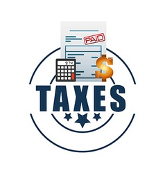 Tax day design vector