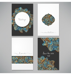 Beautiful card set vector image