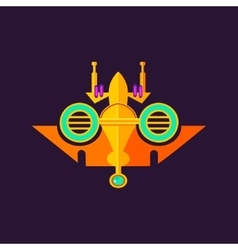 Abstract colorbul spaceship vector