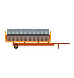 Agricultural trailer agriculture industrial farm vector