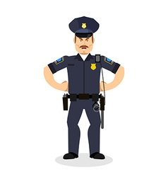 Angry policeman wrathful Cop Aggressive officer vector image