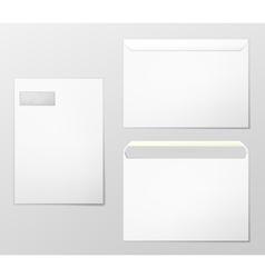 Blank envelopes vector image