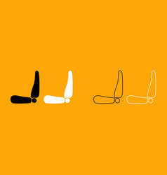 car seat black and white set icon vector image