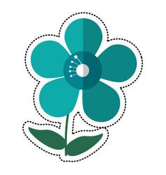 cartoon jasmine flower decoration image vector image