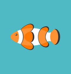 clown fish cartoon flat design icon vector image
