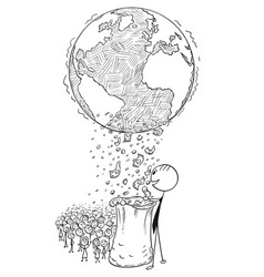 Conceptual cartoon of world wealth distribution vector