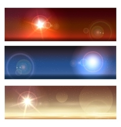 Cosmic Landscapes Set vector image vector image