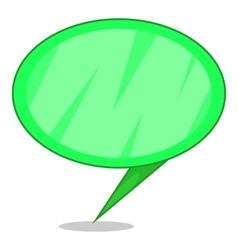 Green speech bubble icon cartoon style vector image vector image
