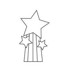 Line shiny stars design with rainbow icon vector