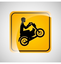 motorcycle rider sign sport extreme design vector image