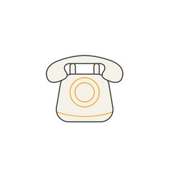old phone line icon vintage call social media vector image vector image