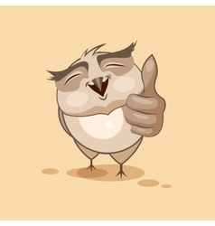 Owl thumb up vector