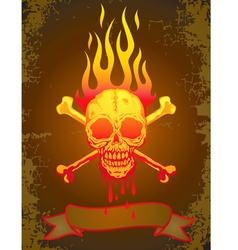Skull fire vector image vector image