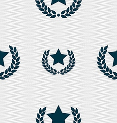 Star award icon sign seamless pattern with vector
