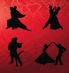 tango dance collection vector image vector image
