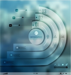 Transparent business Infographics Shadows options vector image