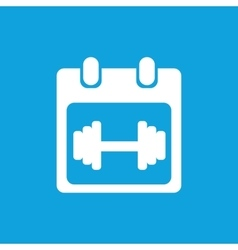 Weightlifting schedule icon simple vector image