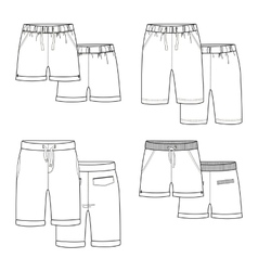 White shorts vector image vector image