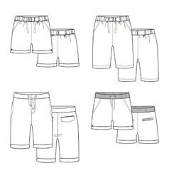 White shorts vector image
