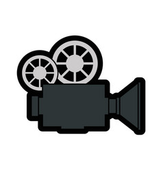 Vintage camcorder equipment vector