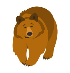 cute smiling grizzly bear cartoon vector image