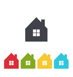 house icon set image vector image