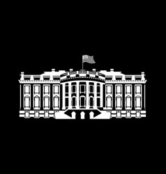 Us white house sign icon america government vector
